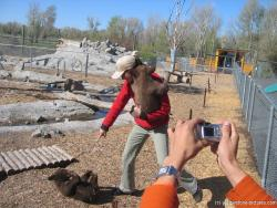 Bear trainer holding baby bears at Yellowstone Bear World.jpg
